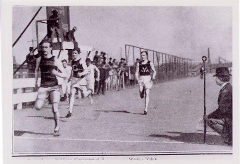 1900 Paris Athletics Gold WALTER TEWKSBURY Photo w/ Autograph Note