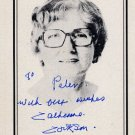 English Novelist Dame CATHERINE COOKSON Hand Signed Bookplate