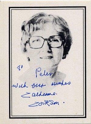 English Novelist Dame CATHERINE COOKSON Hand Signed Bookplate
