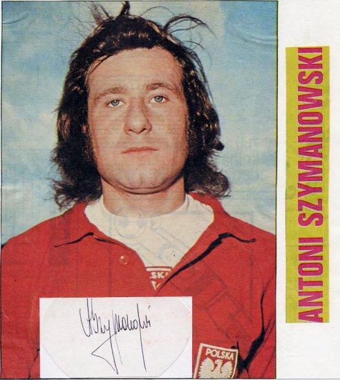 1972 Munich Football Gold & FIFA World Cup ANTONI SZYMANOWSKI Autograph 1970s & Pict