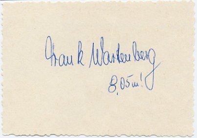 1976 Montreal Long Jump Bronze FRANK WARTENBERG Autograph