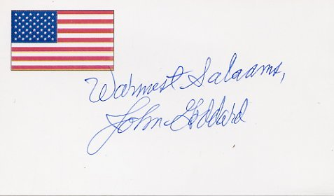 World-Famous Adventurer JOHN GODDARD Autographed Card