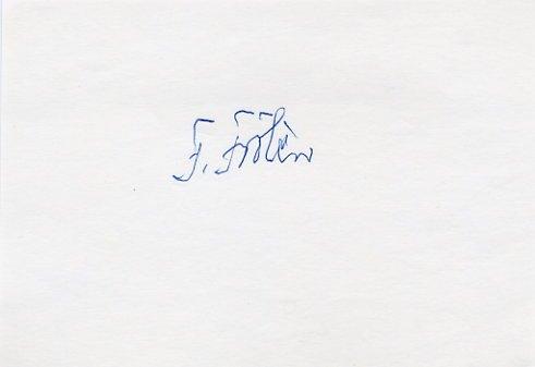 1952 Helsinki Equestrian Gold FOLKE FROLEN Autograph