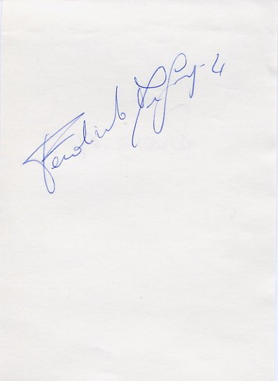 Italian Volleyball Star FERDINANDO DE GIORGI Autograph 1991