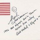 1996 Atlanta Swimming Gold SHEILA TAORMINA Hand Signed Card