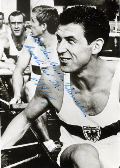 1968 Mexico City Rowing Gold HORST MEYER Hand Signed Photo