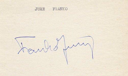 1984 Sarajevo Alpine Skiing Silver JURE FRANKO Autograph 1984