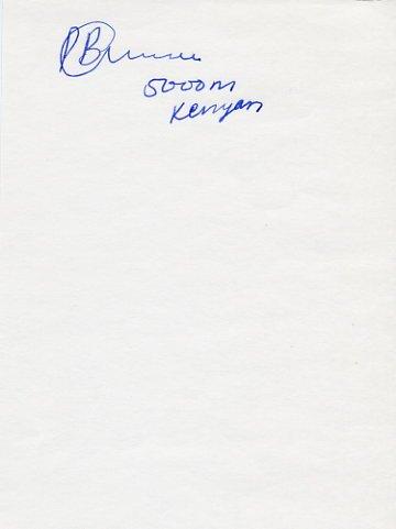 1992 Barcelona & 1996 Atlanta 5000m Silver PAUL BITOK Autograph
