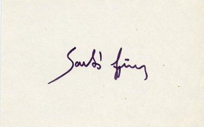 1968 Mexico City Rowing Silver GYORGY SARLOS Autograph 1980s