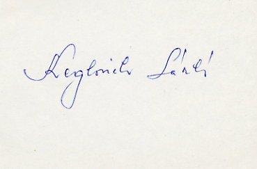 1968 Mexico City Football Gold LASZLO KEGLOVICH Autograph 1980s