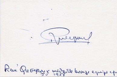 1956 Melbourne Fencing Bronze RENE QUEYROUX Autograph 1980s