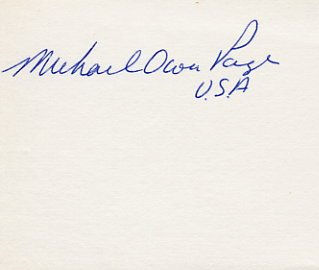 1964 Tokyo & 1968 Mexico City Equestrian Medalist MICHAEL PAGE Autograph