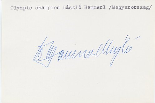 1964 Tokyo Shooting Gold LASZLO HAMMERL Autograph 1981