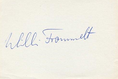 1976 Innsbruck Alpine Skiing Bronze WILLI FROMMELT Autograph 1980