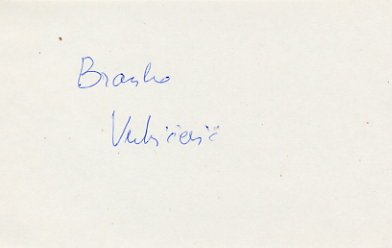 1984 Los Angeles Basketball Bronze BRANKO VUKICEVIC Autograph 1980s
