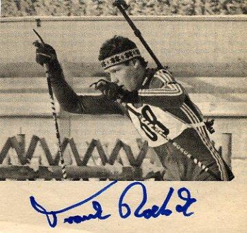 1988 Calgary Biathlon Gold FRANK PETER ROETSCH Autograph 1980s