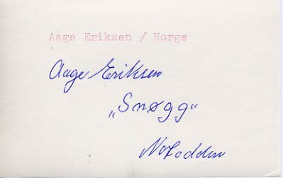 1948 London Wrestling Silver AAGE ERIKSEN Autograph 1980s