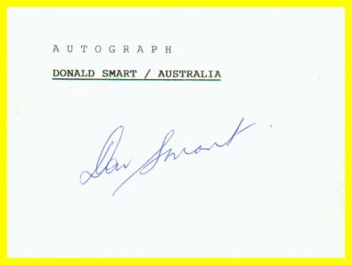 1964 Tokyo & 1968 Mexico City Field Hockey Medalist DONALD SMART Autograph