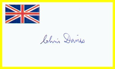 1972 Munich Yachting Gold CHRISTOPHER DAVIES Autographed Card
