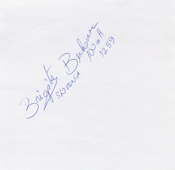 1996 Atlanta 100m Hurdles Silver BRIGITA BUKOVEC Autograph 1996
