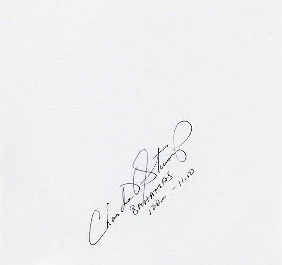 2000 Sydney 4x100m Relay Gold CHANDRA STURRUP Autograph 1996