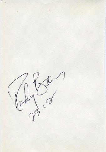 1996 Atlanta Shot Put Gold & WR RANDY BARNES Autograph 1995