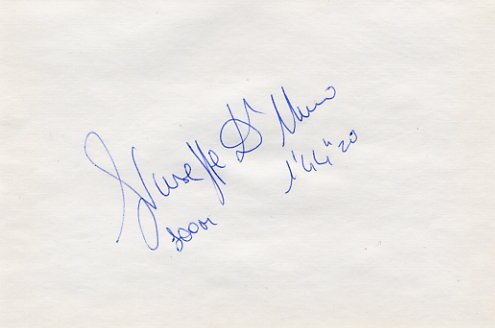 1993  800m World Silver GIUSEPPE D'URSO Autograph 1994