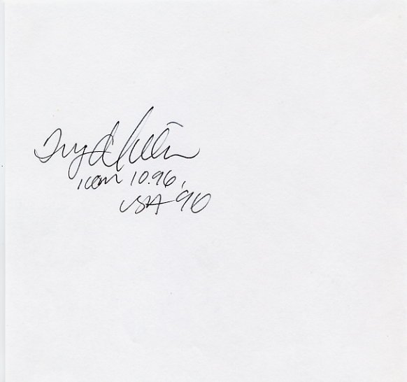 1996 Atlanta 4x100m Relay Gold INGER MILLER Autograph '96