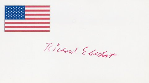 Pulitzer Prize Poet RICHARD EBERHART Hand Signed Card from 1995