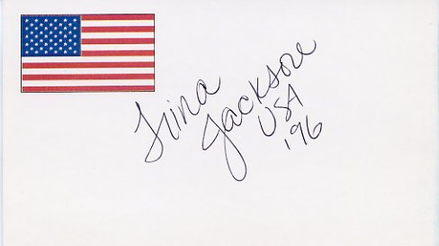 1996 Atlanta Swimming Gold TRINA JACKSON  Hand Signed Card