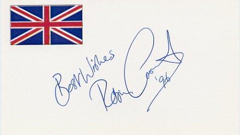 1980 Lake Placid Figure Skating Gold ROBIN COUSINS Autographed Card 1996