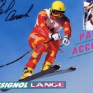 1988 Calgary Alpine Skiing Bronze PAUL ACCOLA  Hand Signed Photo