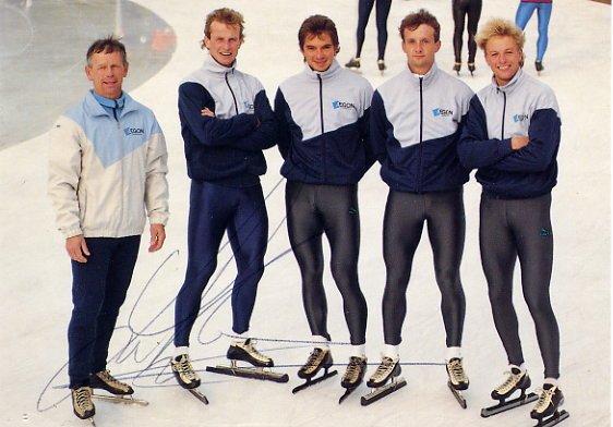 1988 Calgary & 1992 Albertville Speed Skating Medalist  LEO VISSER Hand Signed Photo