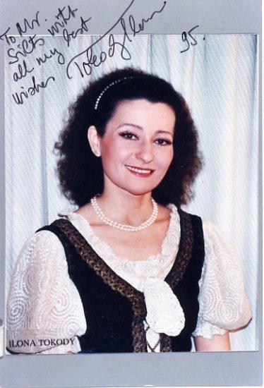 Hungarian Soprano ILONA TOKODY Hand Signed Photo 4x6