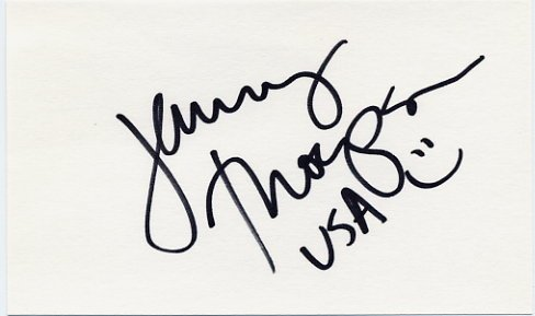 Twelve Swimming Olympic Medals JENNY THOMPSON  Hand Signed Card