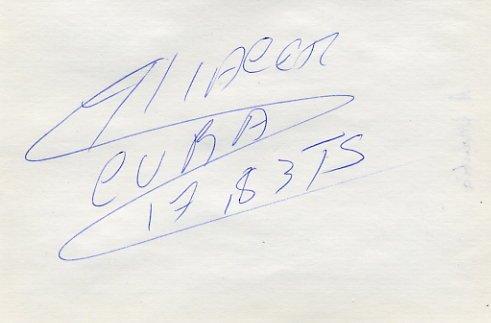 1997 World Triple Jump Bronze ALIECER URRUTIA Autograph