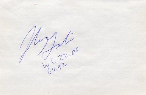 1996-2000 Olympic Shot Put Medalist JOHN GODINA Autograph 1995