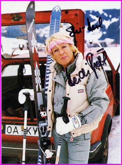 1960 Squaw Valley Alpine Skiing Downhill Gold HEIDI BIEBL  SP 4x6