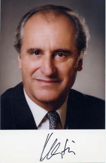 1992-2004 President of Austria THOMAS KLESTIL Hand Signed Photo 4x6