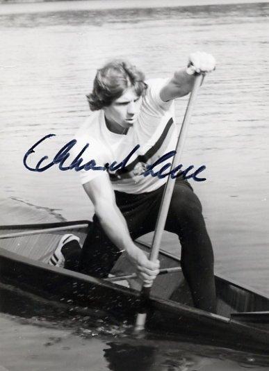 1980 Moscow Canoeing Bronze ECKHARD LEUE Signed Photo 4x6