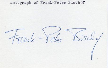 1976 Montreal Canoeing Bronze FRANK-PETER BISCHOF Autograph