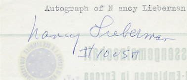 1976 Montreal Basketball Silver NANCY LIEBERMAN Autograph 1970s