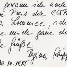 1956 Cortina Alpine Skiing Slalom Silver REGINA SCHOPF Autograph Note Signed 1985