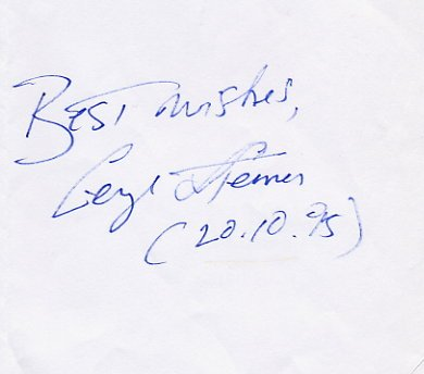 Prominent Literary Critic GEORGE STEINER  Autograph 1995