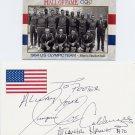 1964 Tokyo Basketball Gold & NBA JOE CALDWELL Autograph 1997 & Olympic Card