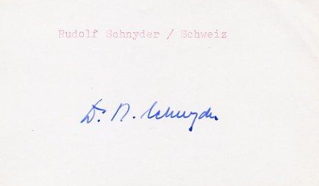 1948 London Shooting Silver RUDOLF SCHNYDER Autograph