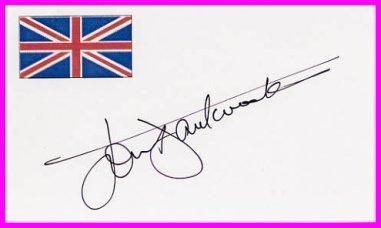 Jazz Composer, Saxophonist & Clarinetist JOHN DANKWORTH Hand Signed Card