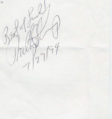 1993 Nobel Medicine PHILLIP ALLEN SHARP Autograph 1994