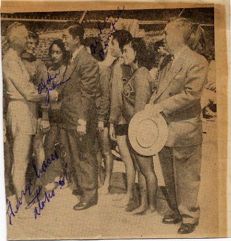 Hawaiian Swimming Stars CIACCI-MURAKAMI-NUMAZU  Autographs from 1951