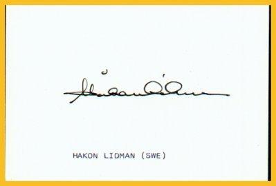 1936 Berlin & 1948 London Hurdles Olympian HAKAN LIDMAN Autograph